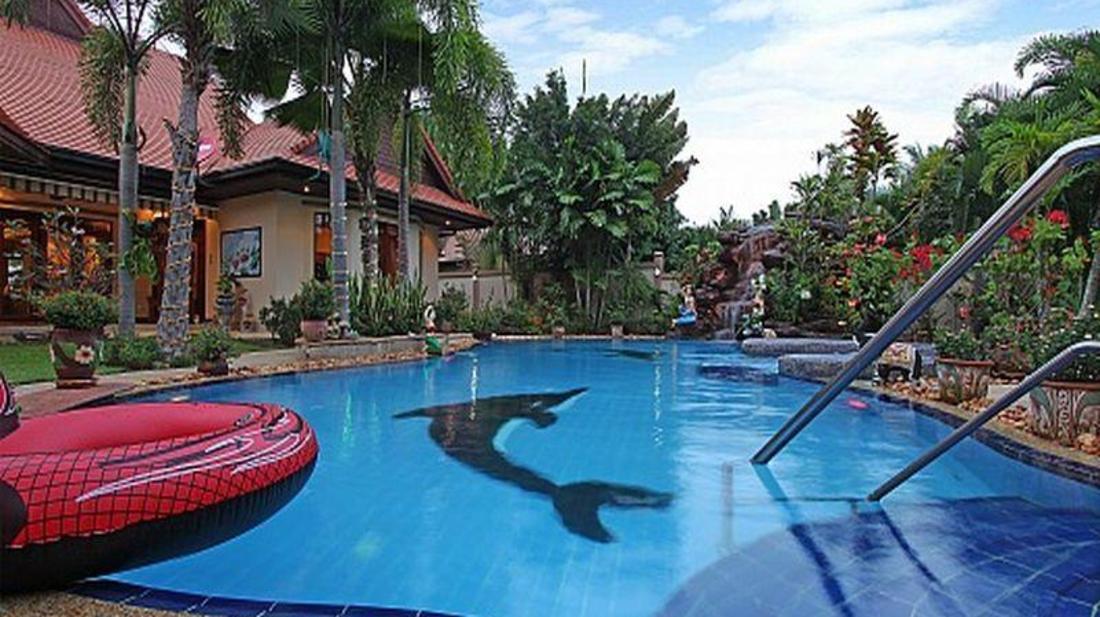 普吉岛放松镇宅别墅棕榈b-3张床(relaxingpalmsb野科泳池彩石别墅图片