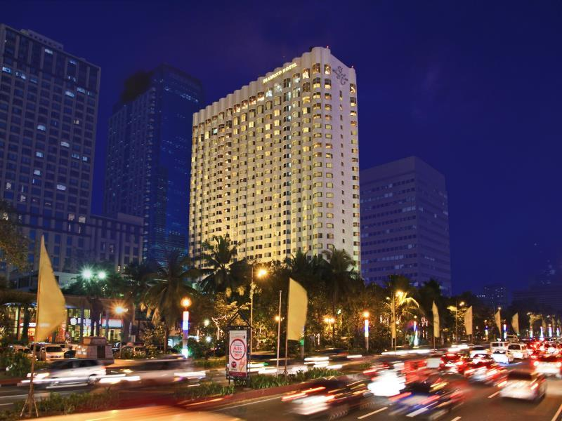 Diamond Hotel Manila - Hotel at Night