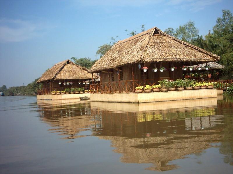 Hotell Mekong Floating House (Radeaux du Mekong)