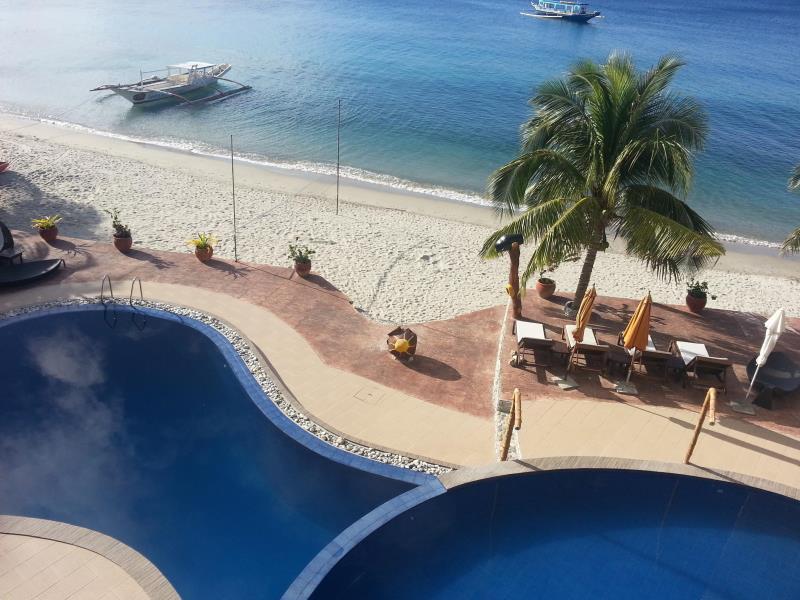 Sunset at Aninuan Beach Resort Puerto Galera - Hotel's Facade