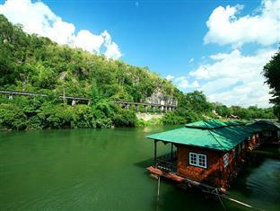 โรงแรมรีสอร์ทบ้านริมแควแพริมน้ำรีสอร์ท โรงแรมในกาญจนบุรี
