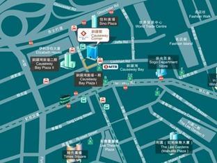 Causeway Corner Hongkong - Kort