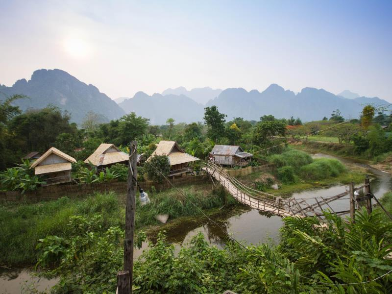 Champa Lao Bungalow - Hotels and Accommodation in Laos, Asia