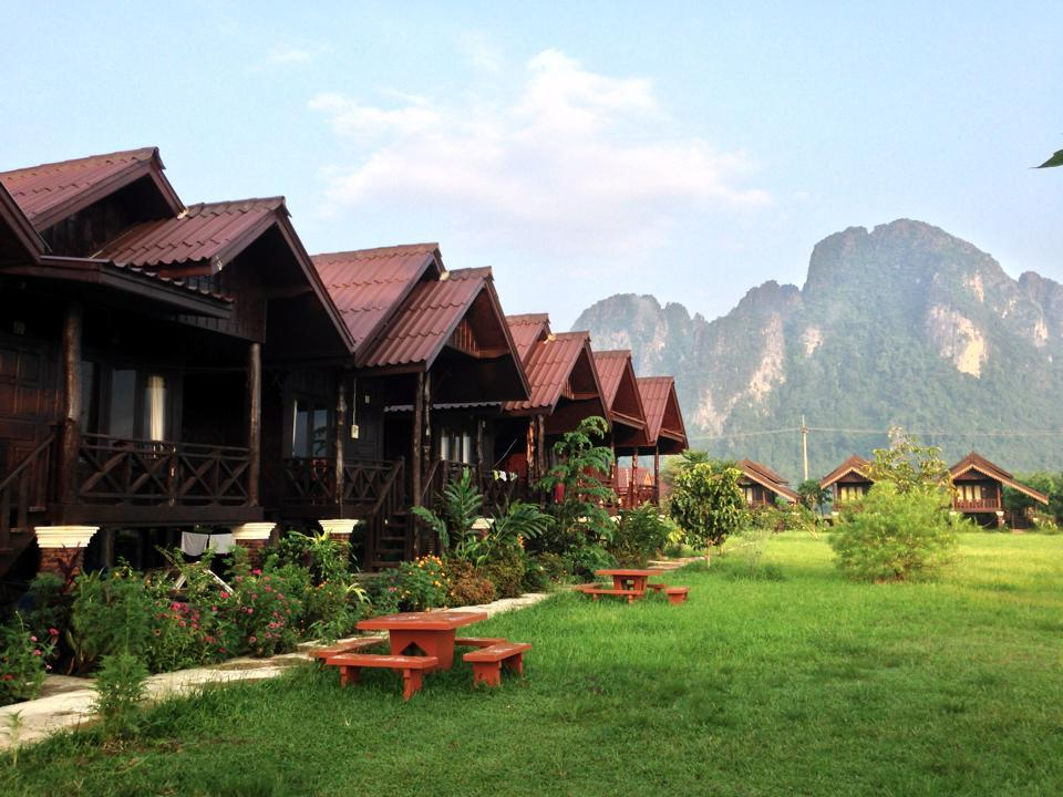 Cliff View Riverside Bungalows - Hotels and Accommodation in Laos, Asia