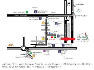 Feel Like Home Guest House Kuala Lumpur - Map for Taxi Driver