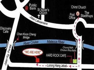 Villa Pulau Besar Malacca / Melaka - Checking In Point at Riverside Paradise Hotel  (Map)