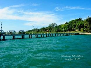 Villa Pulau Besar Malacca / Melaka - Jetty road at Pulau Besar Island