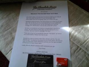 The Chocolate House B&B Cape Town - Welcome Letter