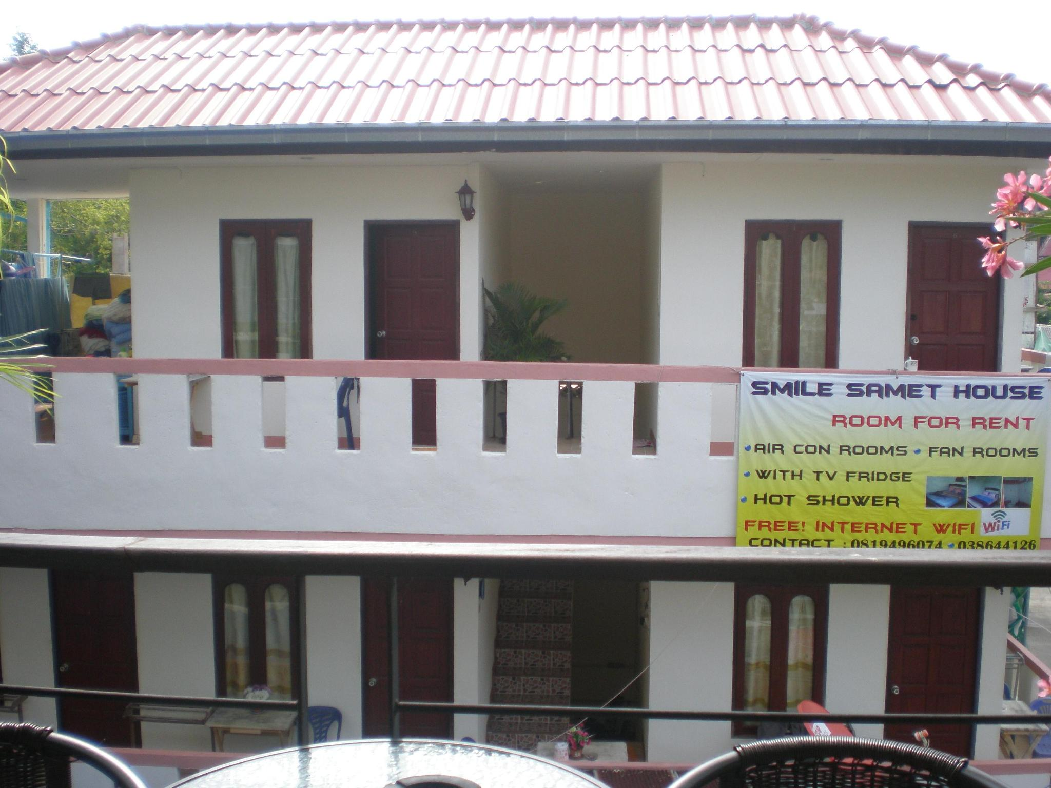 บ้านพักสไมล์ เสม็ด กลางเมืองเสม็ด เกาะเสม็ด