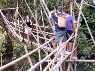 Annah Rais Bidayuh Homestay Kuching - Bamboo Bridge