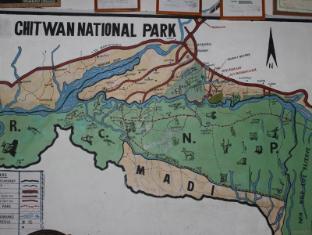 Hotel River Side Chitwan National Park - Chitwan National Park Map