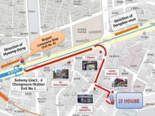 JJ House Myeongdong Seoul - Map