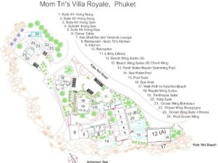 Mom Tris Villa Royale Hotel Phuket - Floor Plans