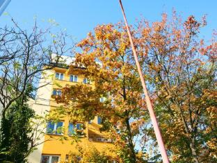 Freddie next to Mercury Hotel Bratislava - Street view