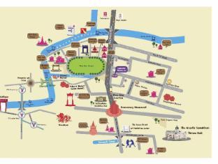 Sawasdee Khaosan Inn Hotel Bangkok - Map