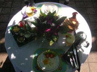 Sagarika Beach Hotel Bentota/Beruwala - Breakfast on the terrace