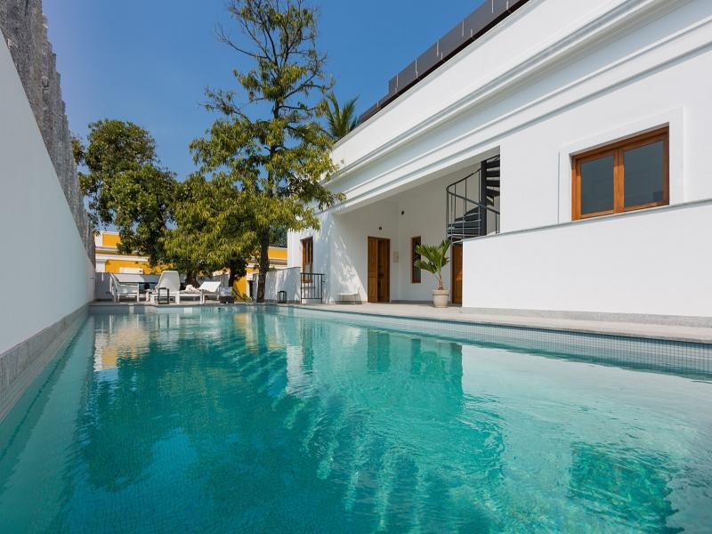 La villa hotel white town french colony pondicherry india great discounted rates for Hotels with swimming pool in pondicherry