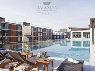 balcony courtyard si racha hotel & serviced apartments