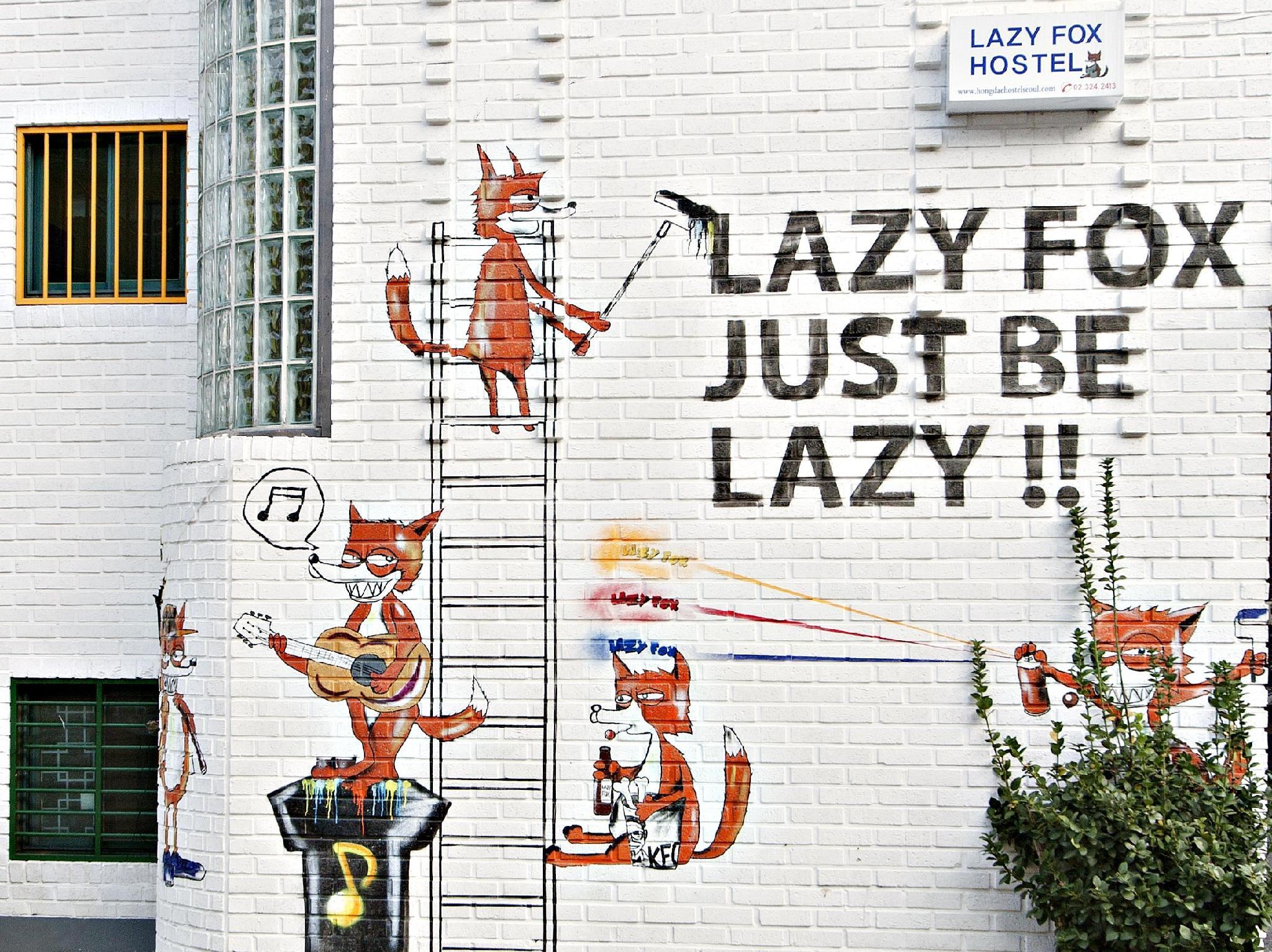 Hongdae Lazy Fox Hostel In Seoul - Seoul