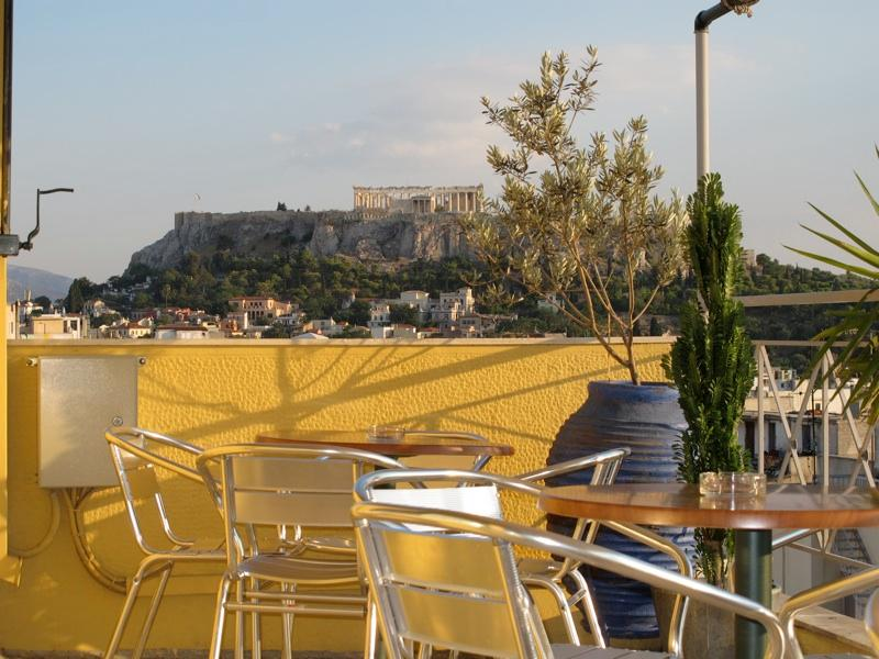 Evripides Hotel Athens - Breakfast Roof garden